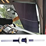 Relanson Universal Fit Retractable Auto Windshield Sunshade Easy to Use Sun Shade(Large/27.6