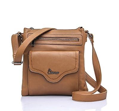 Siena Triple Top-Compartment Soft Crossbody Bag MS012