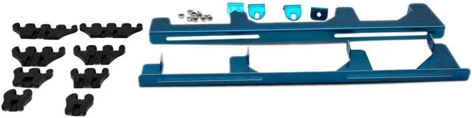 XIAMI Chrome Linear Spark Plug Wire Separators Divider Loom Black Valve Cover For Ford Chevy Mopar V8 Engines 283 327 305 350 383