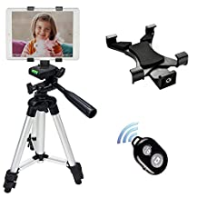 "Tablet Tripod, Peyou 40"" Inch Aluminum Camera Tripod + Universal Tablet Holder Mount (Fits for Tablet Width Between 4.9'' - 7.6'')+ Bluetooth Wireless Remote Control Camera Shutter for Apple iPad Pro 9.7'', iPad 2/3/4, iPad Air/Air 2, iPad Mini 2/3/4"