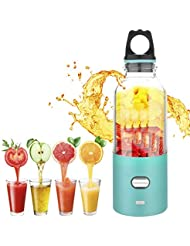 Portable juicer, XBrands Mini blender USB Rechargeable, Small Size Easy to Carry - Can Crush Ice Cubes