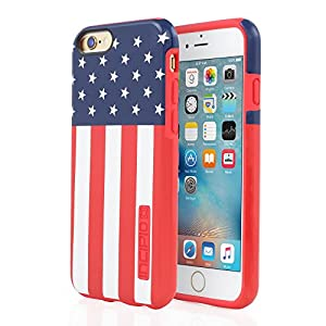 iPhone 6/6s Case, Incipio [Hard Shell] [Dual Layer] DualPro Case for iPhone 6/6s-USA Flag
