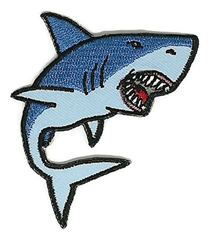 Costume Meaning In English (2.7 x 2.5 inches. The Shark Blue Shark patch Symbol Jacket T-shirt Patch Sew Iron on Embroidered Sign Badge Costume)