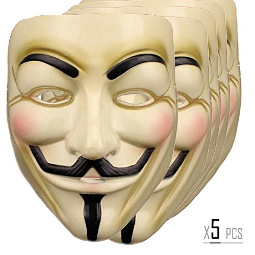 V for Vendetta Anonymous Mask Masquerade Halloween Fancy Dress Cosplay - 5