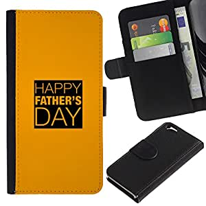 All Phone Most Case / Oferta Especial Cáscara Funda de cuero Monedero Cubierta de proteccion Caso / Wallet Case for Apple Iphone 6 // Day Gold Yellow Text Holiday