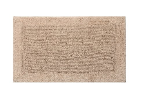 "TrendSetter Homez MEGA Sales Dakar Stripe Extra Large Elite Single Bath Rug 100% Cotton Hand Tufted Heavy Bathmat Size 24"" x 60"" Machine Washable Bathroom Rug (Sand) -  - bathroom-linens, bathroom, bath-mats - 51uUj7cIraL -"