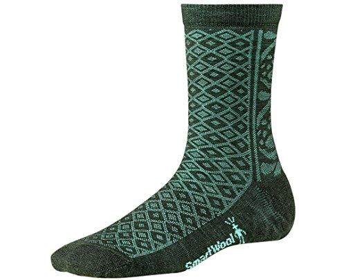 Smartwool Women's Lily Pond Pointelle Socks (Forest) - Pointelle Wool