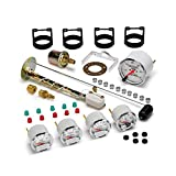 Auto Meter 1300-00408 Arctic White Kit Box with Mechanical Speedometer Gauge for GM - 5 Piece