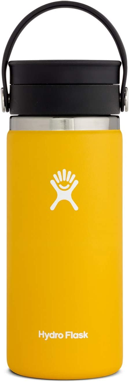 Hydro Flask Travel Coffee Flask with Flex Sip Lid - 16 oz, Sunflower