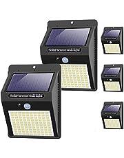 Kolpop, solarlampen voor buiten, 5 stuks, 100 leds, zonnelamp met bewegingsmelder, 3 modi, 1200 mAh, 120 graden, superheldere zonnelamp, waterdicht, wandlamp, zonnelicht voor tuin