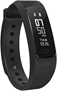 SMA-B2 Fitness Tracker Smart Bracelet Blood Pressure Wristband Heart Rate Monitor Activity Tracker IP68 Waterproof USB Charging Smart Band Compatible with iPhone and Android Sport Bracelet Activity Tracker