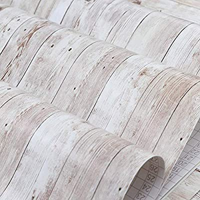 """Abyssaly Wood Contact Paper 17.71"""" X 118"""" Self-Adhesive Removable Wood Peel and Stick Wallpaper Decorative Wall Covering Vintage Wood Panel Interior Film Leave No Trace Surfaces Easy to Clean"""