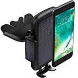 """ToHayie Universal CD Slot Car Mount,Car Phone Holder for iPhone 7/7Plus/6s/6Plus/5S,Samsung Galaxy S5/S6/S7,LG and all Smartphones up to 6"""",Black Car Cradle Mount,Pack 1"""