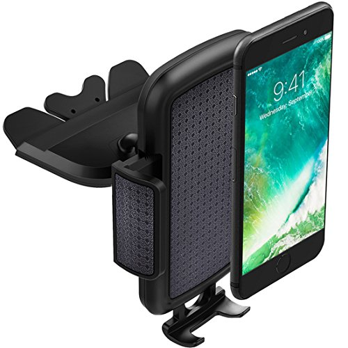 ToHayie Universal CD Slot Car Mount,Car Phone Holder for iPhone 8,iPhone X,7/7Plus/6s/6Plus/5S,Samsung Galaxy S5/S6/S7,LG and all Smartphones up to 6