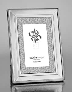 beaded 4x6 picture frame 4x6 polished silver bead trim picture frame single. Black Bedroom Furniture Sets. Home Design Ideas