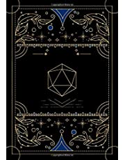 RPG journal: Mixed paper: Ruled, graph, hex: For role playing gamers: Notes, tracking, mapping, terrain plans: Vintage black dice deco cover design
