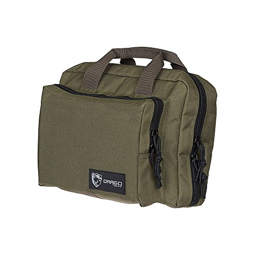 Drago Gear Double Pistol Case, OD Green, 12.5
