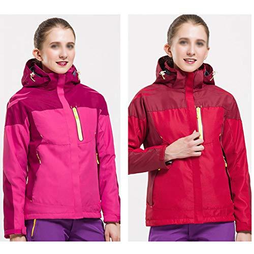 De Veste Et Montagne Homme D'extérieur Femme Andes Trois Imperméable Red Deux Gjfeng En B Pièces Chaude XdqpUX