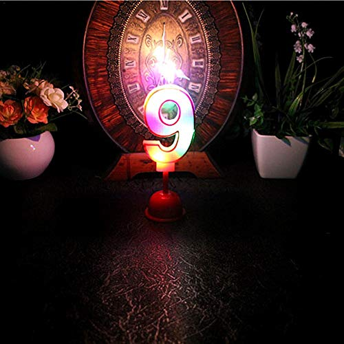Candle Digital Number Design 0-9 Party Birthday Cake Happy Valentine's Day Home Decor Dining Room Wax led Music Candle Light