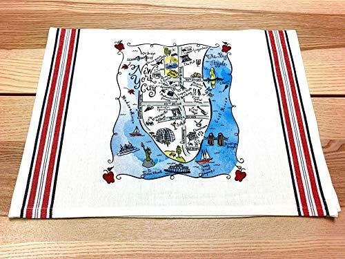 New York City Map Kitchen \ Tea Towel