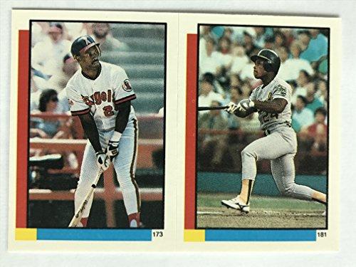 1990 Topps Stickers #181 Rickey Henderson NM/M (Near Mint/Mint) ()