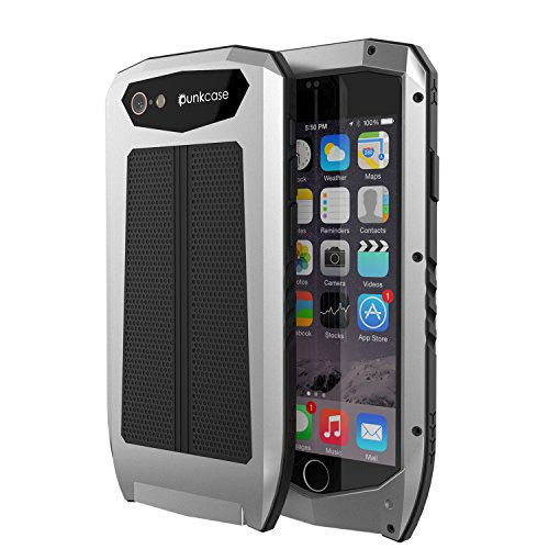 iPhone 6s/6 Case, PUNKcase [METALLIC PRO Series] Heavy Duty Tri Layer Armor Cover W/ Screen Protector Touch ID [Slim Fit] [Shockproof] [Dustproof] [Dirtproof] for Apple iPhone 6/6s [SILVER]