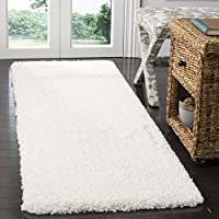 Safavieh Santa Monica Shag Collection SGN725-1010 White Plush Runner (23 x 11)