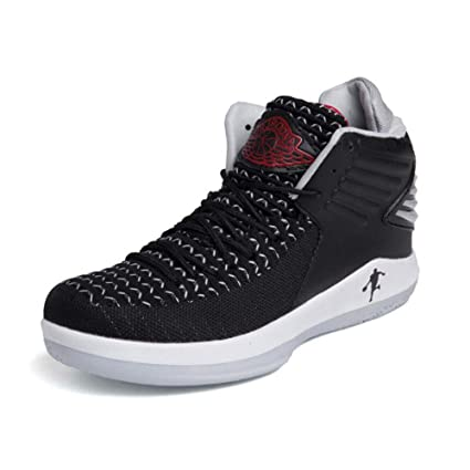 fe8725404ea3 Amazon.com   YaXuan New Breathable Basketball Shoes Men s High Boots ...