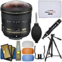 Nikon 8-15mm f/3.5-4.5E ED AF-S Fisheye-Nikkor Lens with 3 UV/CPL/ND8 Filters + Tripod + Flash Filters + Kit