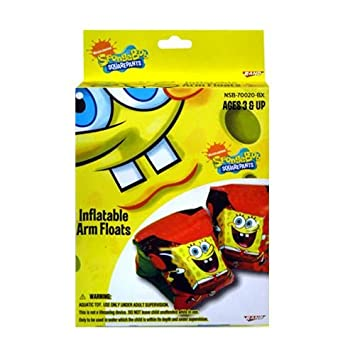 Spongebob Bob Esponja Arm Floaties - Kids Pool Toys: Amazon ...