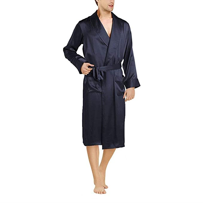 Bata De Baño para Hombre Bata De Baño Tamaños Cómodos Ligero Y Cómodo Robe Homewear Bata De Pijama De Color Sólido Ropa: Amazon.es: Ropa y accesorios