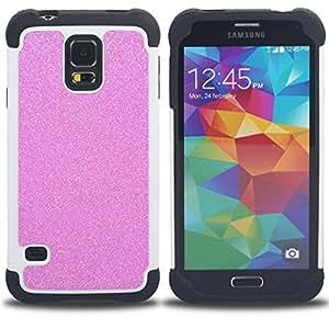 For Samsung Galaxy S5 I9600 G9009 G9008V - pink glitter sparkling plastic diamond Dual Layer caso de Shell HUELGA Impacto pata de cabra con im????genes gr????ficas Steam - Funny Shop -