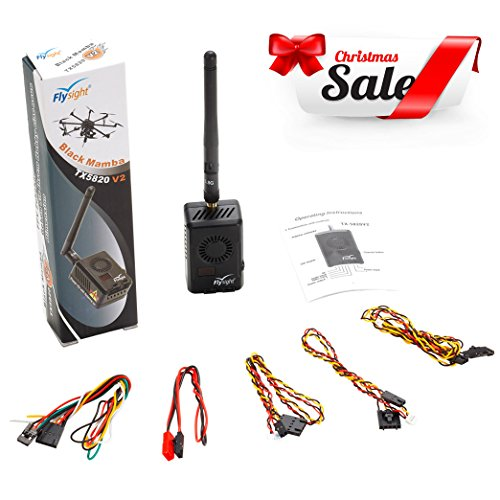 5.8 Ghz Video (Flysight Black Mamba TX5820 V2 5.8GHz ( 6V-28V) 40CH 2000mW FPV Video Transmitter for Long-distance Transmission 8km to 9km (TX5820 V2-SMA))