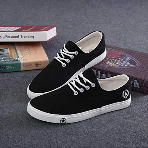 Traspirante Outdoor Fashion Scarpe Uomo Nero Mens Canvas Scarpe Classic Flats Casual R74nAA6