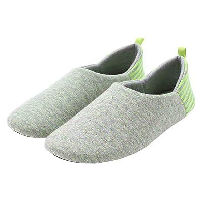 Amazon.com: buyitnow Mujeres algodón punto zapatillas suave ...
