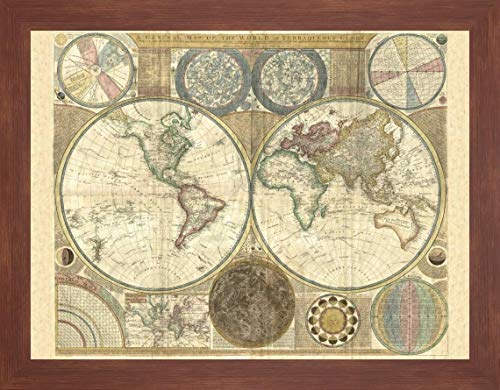 (Double Hemisphere map of The World 1794 by Samuel Dunn - 13