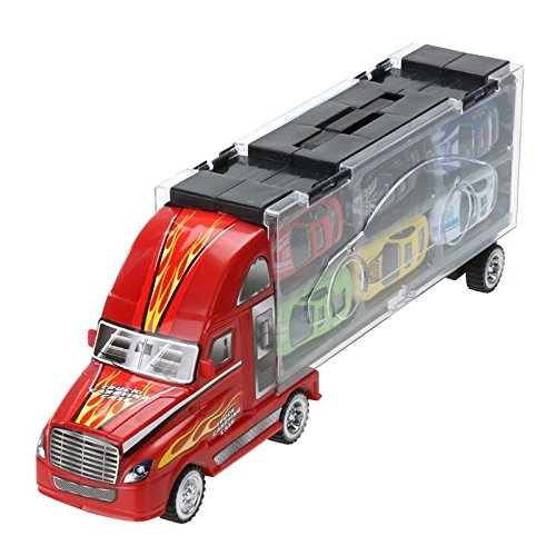 vinmax Truck Sets Alloy Transport Car Carrier Toys 13 Pcs / Set Children Birthday New Years Gaming Play Toys Gifts by vinmax (Image #6)