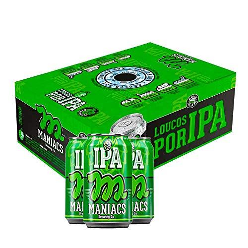Cerveja Maniacs IPA 350ml Caixa (12 Unidades)