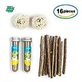 abobo Catnip Toys Balls Bells Silver Vine + Catnip Sticks/Matatabi, 100% Natural Organic Cat Toys/Dental Cleaning for Cats