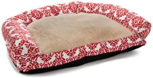 Waverly Couch Bolster Pet Bed, X-Large, Red