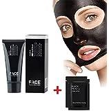 FACEAPEEL® Maschere facciali Cure Black Mask punti neri maschera peel off pulizia profonda Pore Purificante nero Testa anti acne Tipo strappo Blackhead Killer (60g) + 2PC maschera nasale