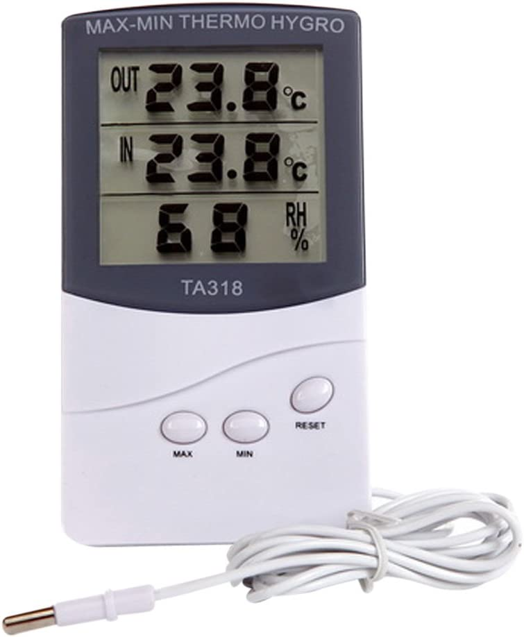Indoor Outdoor Digital Temperature Thermometer Humidity Hygrometer Reader LCD