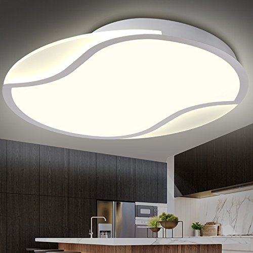 BLYC- Romantisches Schlafzimmer Lampe Wohnzimmer Lampe moderne minimalistische Esszimmer Licht LED Deckenleuchte 500 * 500 * 90 mm