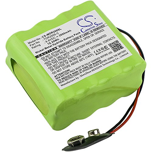 Cameron Sino Replacement Battery for Megger TDR2000/2R echometer, Time Domain reflectometer Megg, 2000mAh