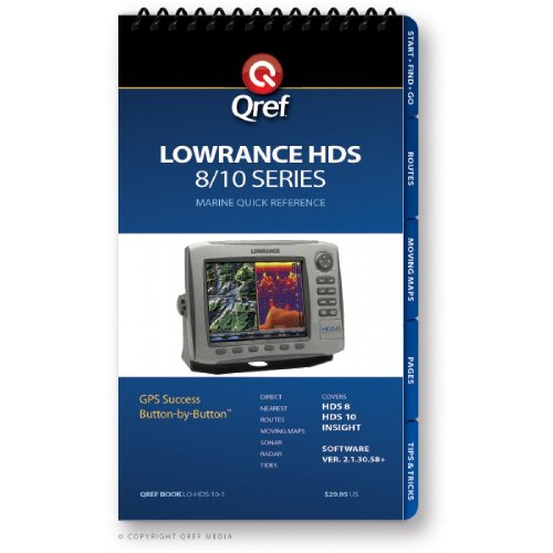 Price comparison product image Lowrance HDS 8 / 10 Series Qref Checklist Book
