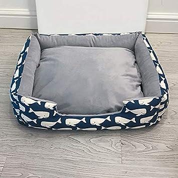 YSDTLX Cama para Perro Perrera Extraíble Perrera Gato Mascota Nido Perrera Grande Cuatro Estaciones, Azul Marino, XL: Amazon.es: Productos para mascotas