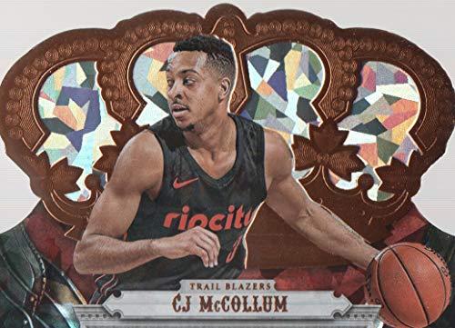 (2017-18 Crown Royale Basketball Crystal #14 CJ McCollum 76/99 Portland Trail Blazers)