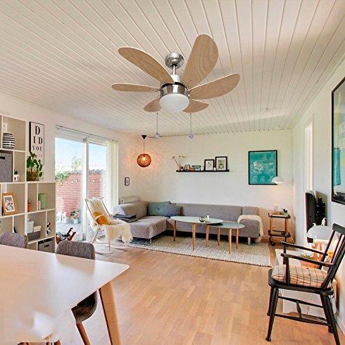 003 offre ventilateur de plafond 6 pales nickel h tre. Black Bedroom Furniture Sets. Home Design Ideas