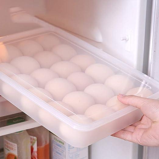 Caja de huevos, 24 cajas transparentes, caja para huevos, nevera ...