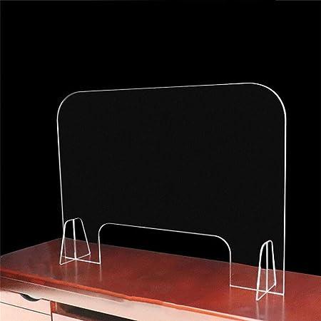HSBAIS Mampara De ProteccióN, Acrílico Mampara mostrador con ventanilla Mampara Pantalla Proteccion Transparente Anti contagio y protección,60x60cm: Amazon.es: Hogar